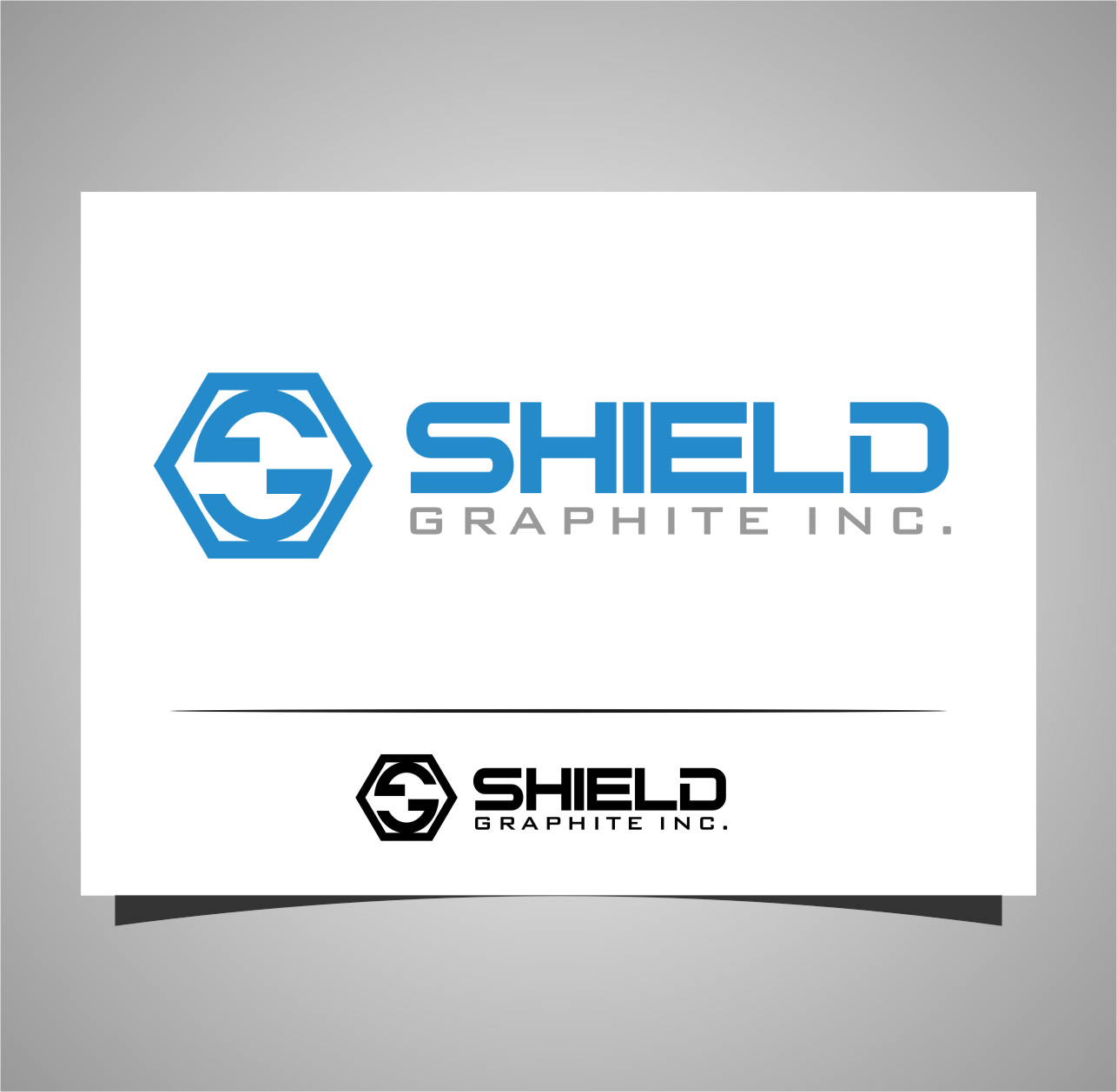 Logo Design by Ngepet_art - Entry No. 115 in the Logo Design Contest Imaginative Logo Design for Shield Graphite Inc..