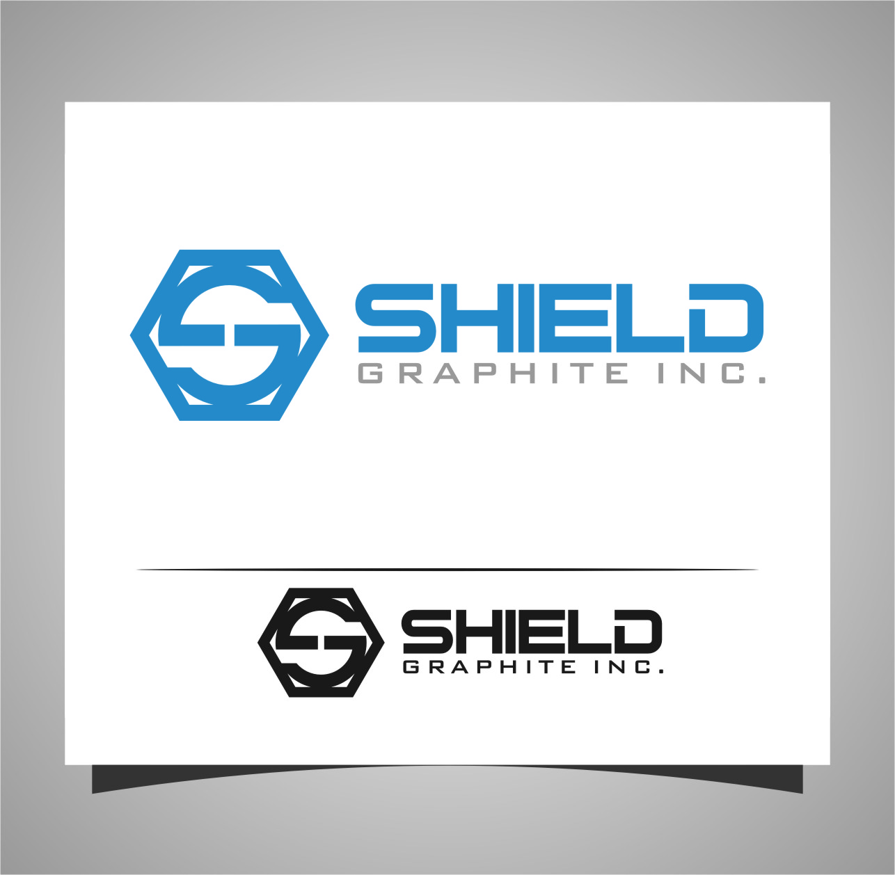 Logo Design by Ngepet_art - Entry No. 117 in the Logo Design Contest Imaginative Logo Design for Shield Graphite Inc..