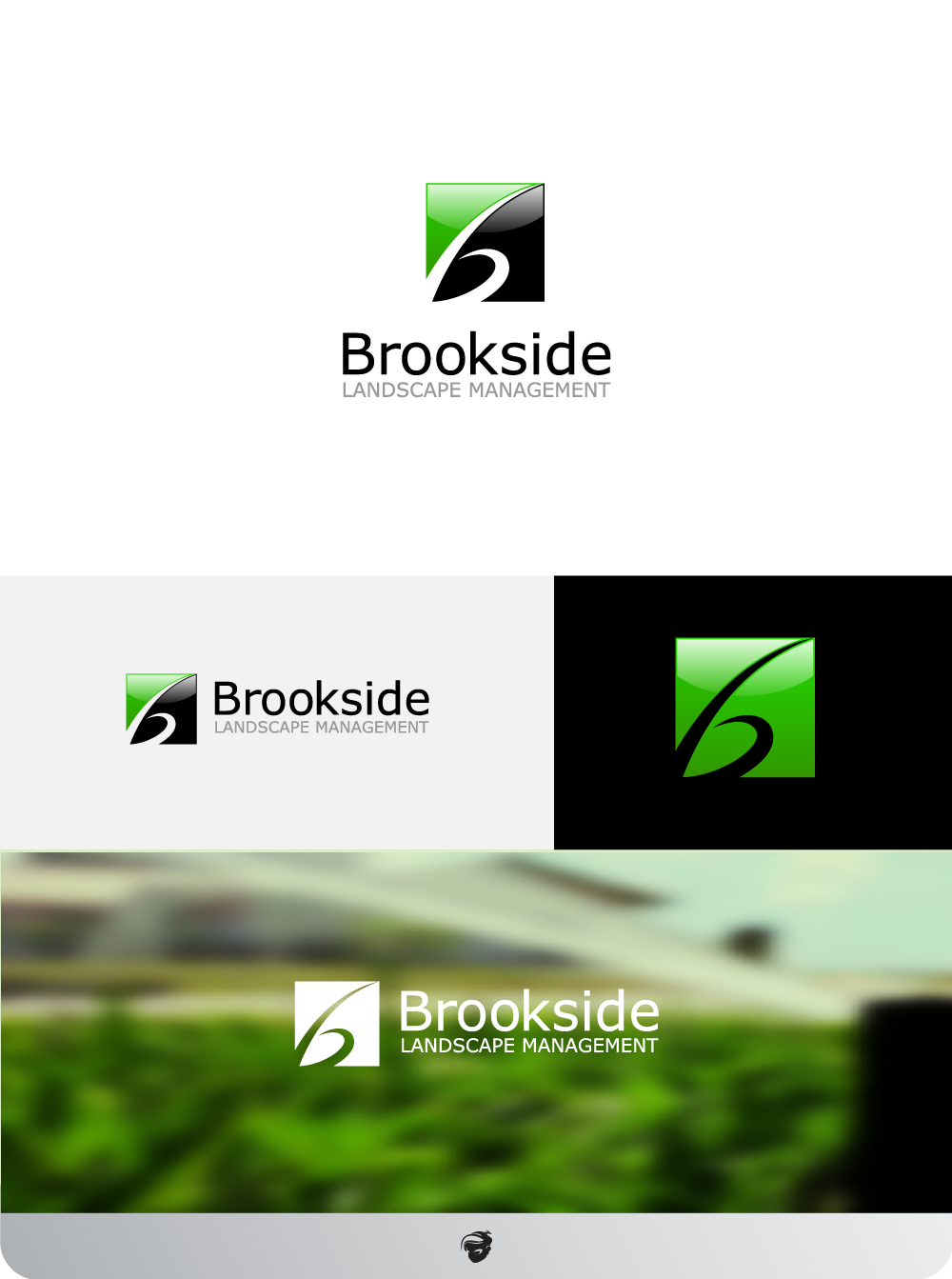 Logo Design by zesthar - Entry No. 177 in the Logo Design Contest New Logo Design for Brookside Landscape Management.