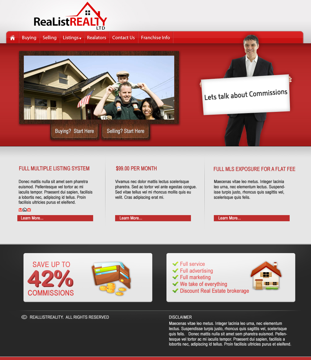 Web Page Design by Darrenmaher - Entry No. 96 in the Web Page Design Contest Realist Realty International Ltd..