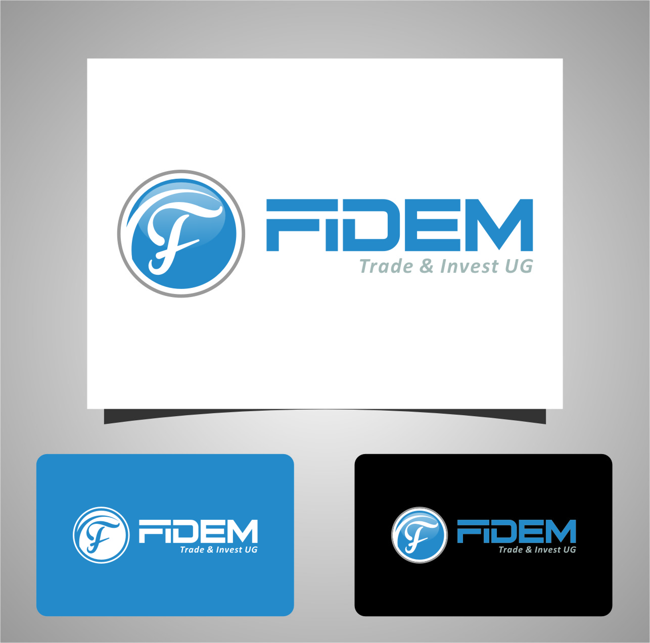 Logo Design by RoSyid Rono-Rene On Java - Entry No. 730 in the Logo Design Contest Professional Logo Design for FIDEM Trade & Invest UG.