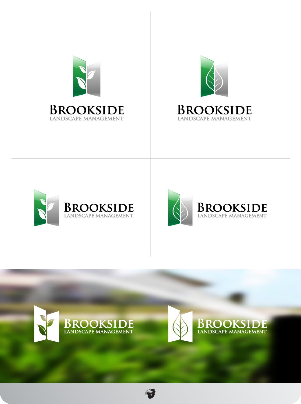 Logo Design by zesthar - Entry No. 181 in the Logo Design Contest New Logo Design for Brookside Landscape Management.