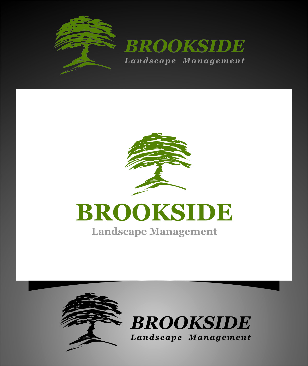 Logo Design by RasYa Muhammad Athaya - Entry No. 182 in the Logo Design Contest New Logo Design for Brookside Landscape Management.