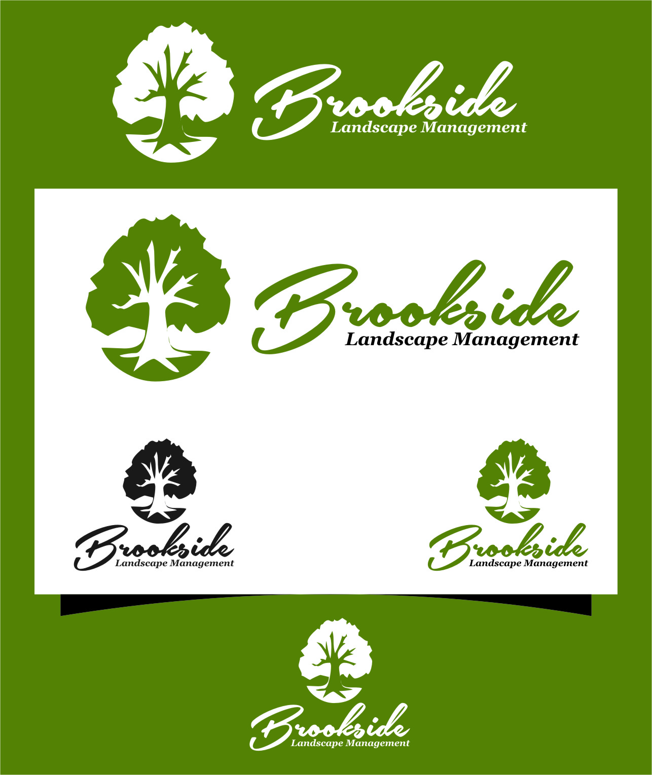 Logo Design by RasYa Muhammad Athaya - Entry No. 184 in the Logo Design Contest New Logo Design for Brookside Landscape Management.