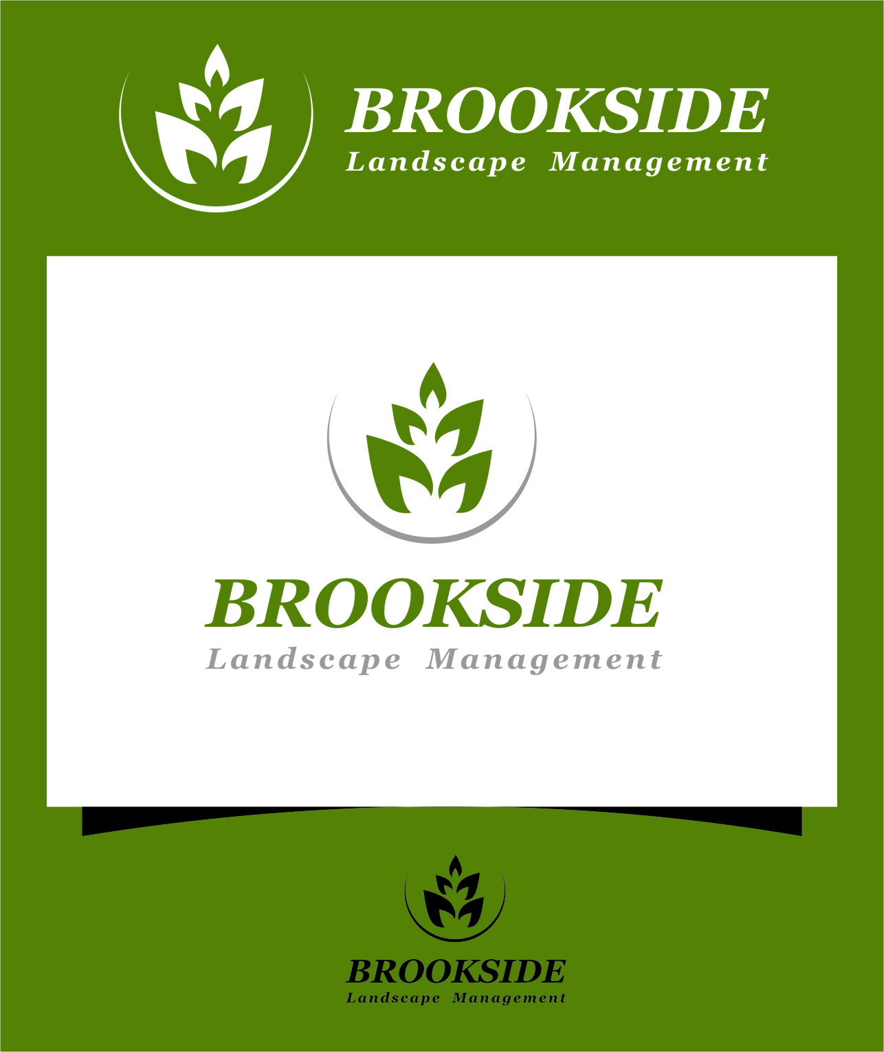 Logo Design by Ngepet_art - Entry No. 185 in the Logo Design Contest New Logo Design for Brookside Landscape Management.