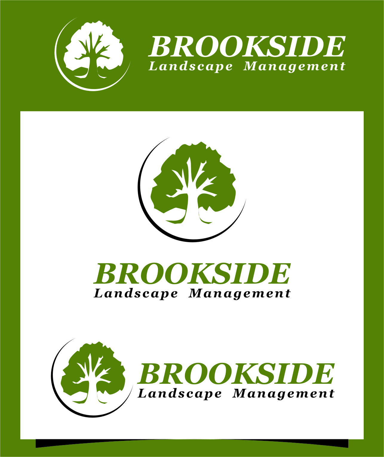 Logo Design by RasYa Muhammad Athaya - Entry No. 186 in the Logo Design Contest New Logo Design for Brookside Landscape Management.