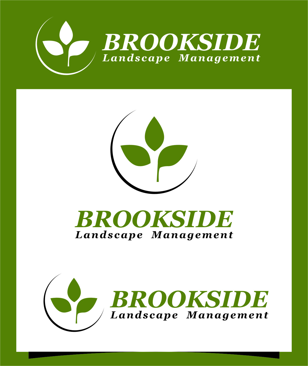 Logo Design by Ngepet_art - Entry No. 187 in the Logo Design Contest New Logo Design for Brookside Landscape Management.