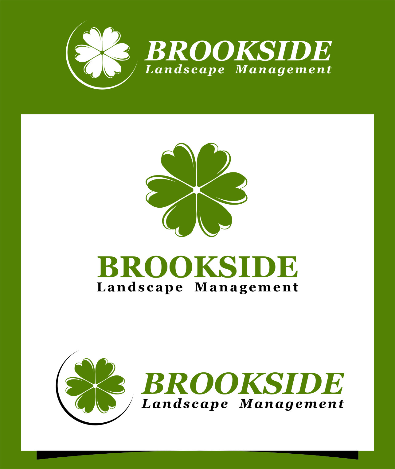 Logo Design by RasYa Muhammad Athaya - Entry No. 188 in the Logo Design Contest New Logo Design for Brookside Landscape Management.