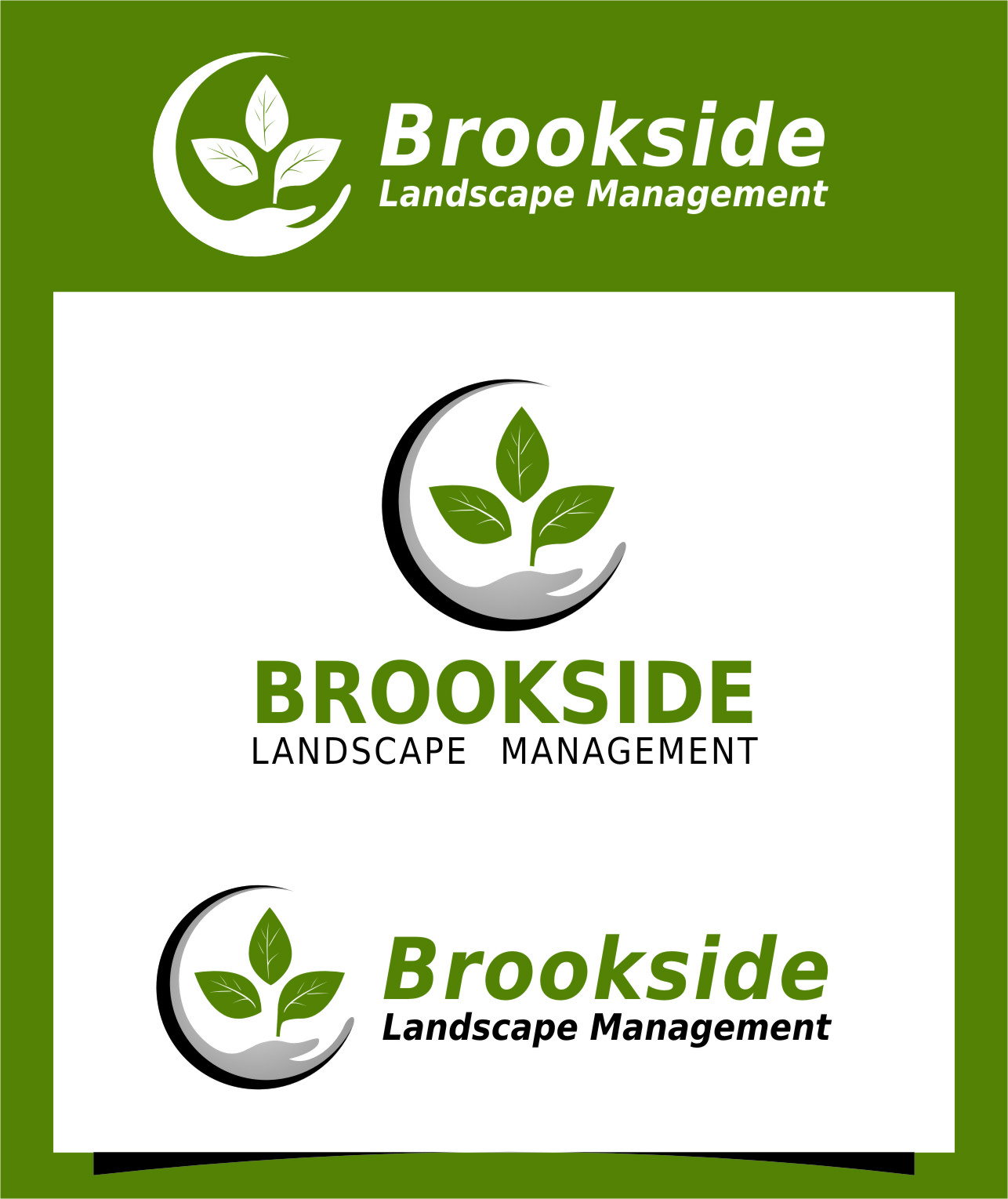 Logo Design by Ngepet_art - Entry No. 189 in the Logo Design Contest New Logo Design for Brookside Landscape Management.