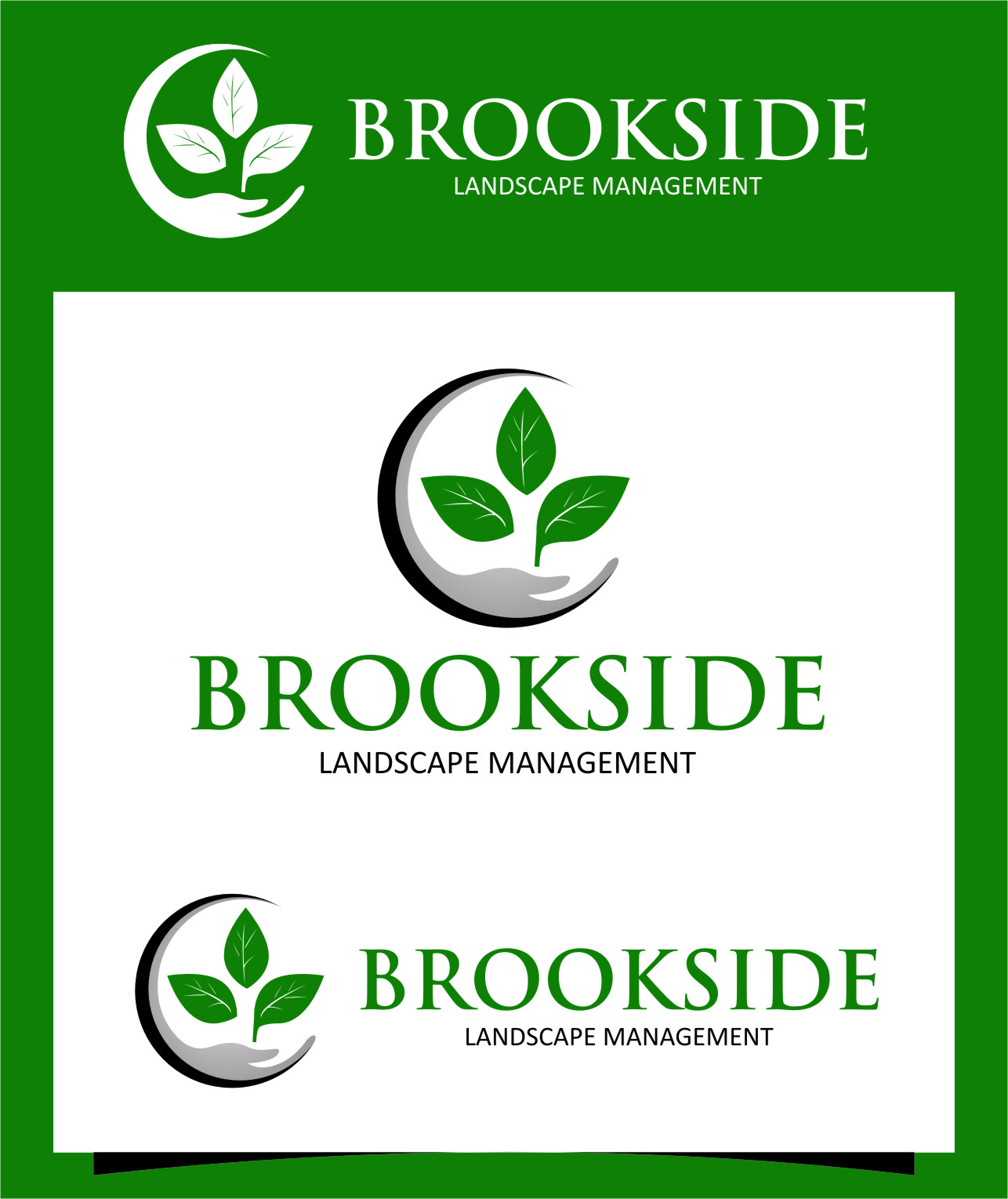 Logo Design by RasYa Muhammad Athaya - Entry No. 190 in the Logo Design Contest New Logo Design for Brookside Landscape Management.