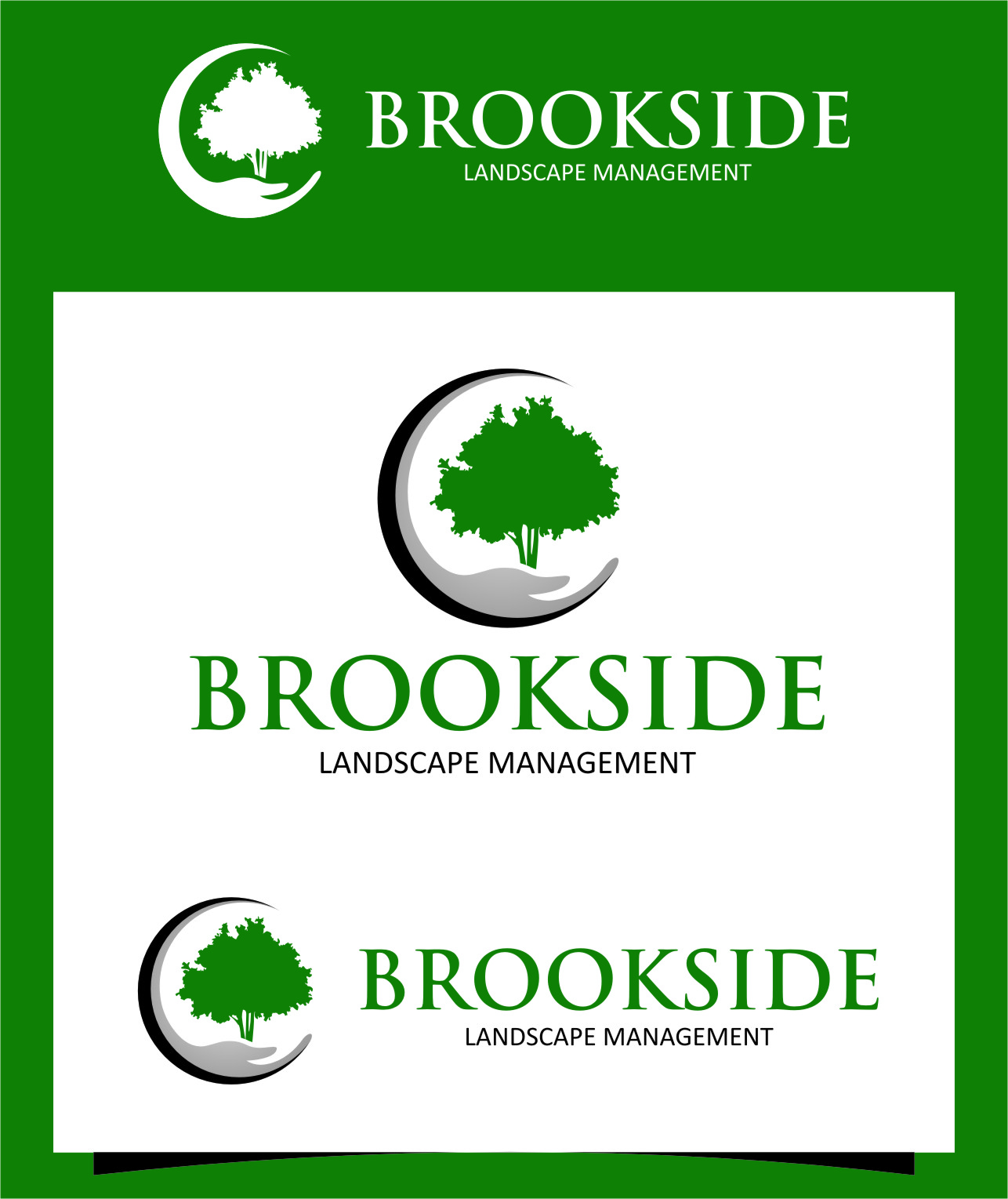 Logo Design by RoSyid Rono-Rene On Java - Entry No. 191 in the Logo Design Contest New Logo Design for Brookside Landscape Management.