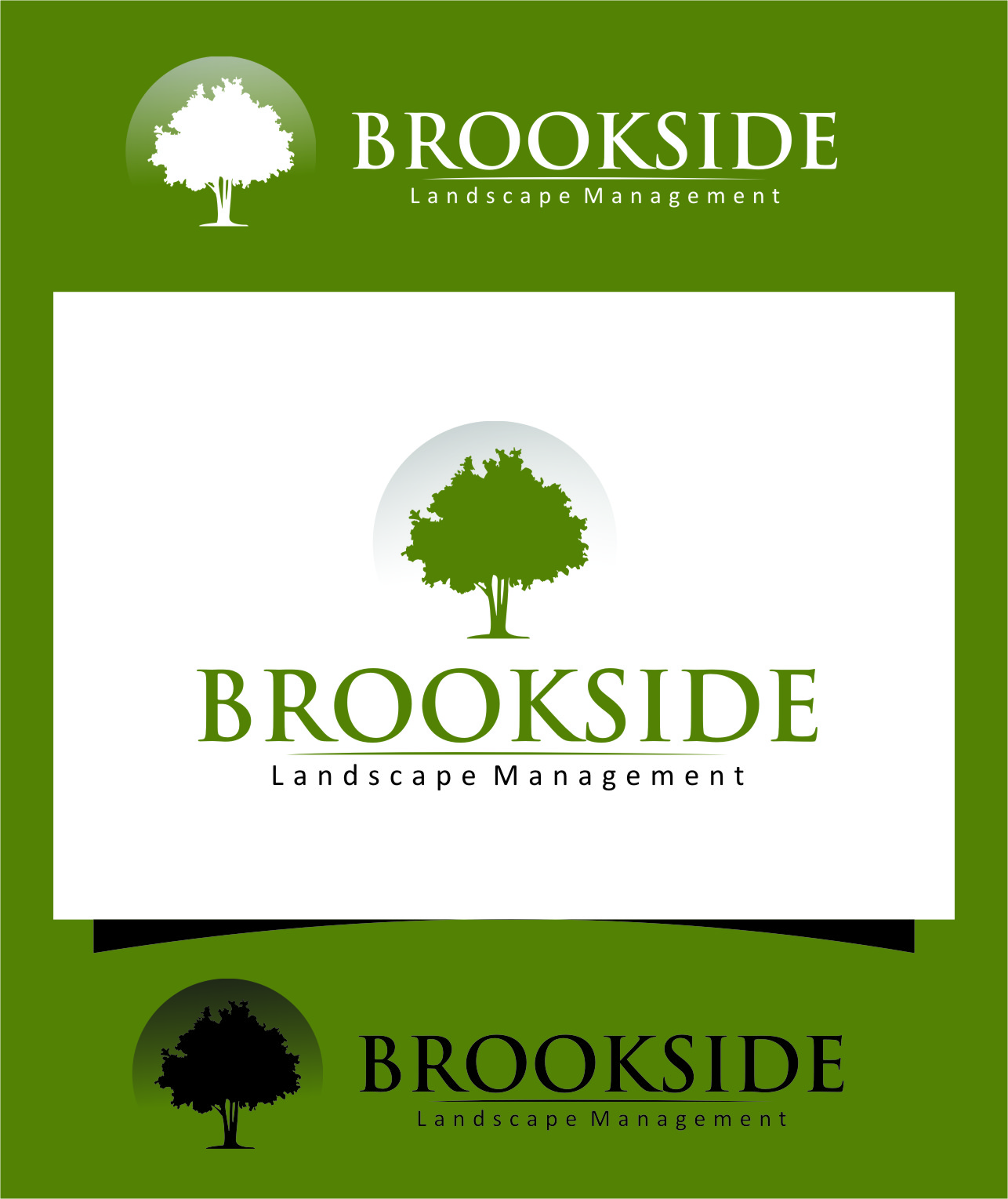 Logo Design by Ngepet_art - Entry No. 192 in the Logo Design Contest New Logo Design for Brookside Landscape Management.