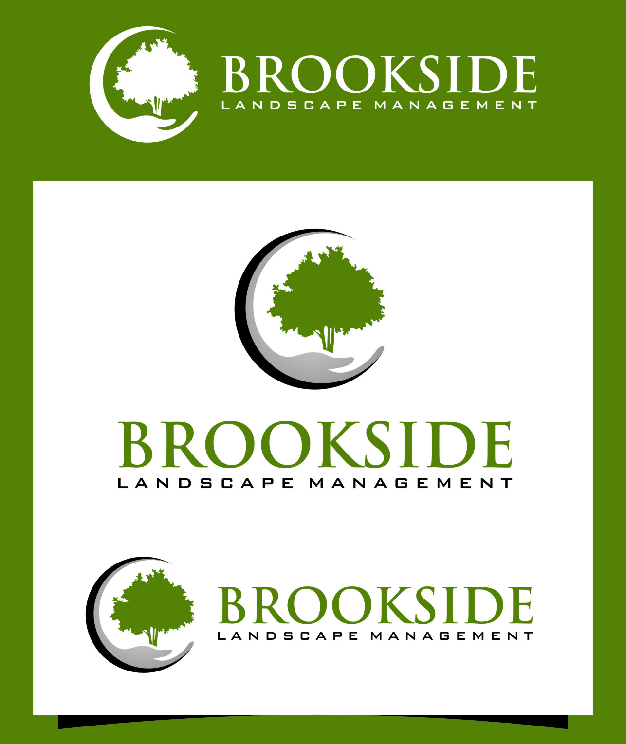 Logo Design by RasYa Muhammad Athaya - Entry No. 193 in the Logo Design Contest New Logo Design for Brookside Landscape Management.