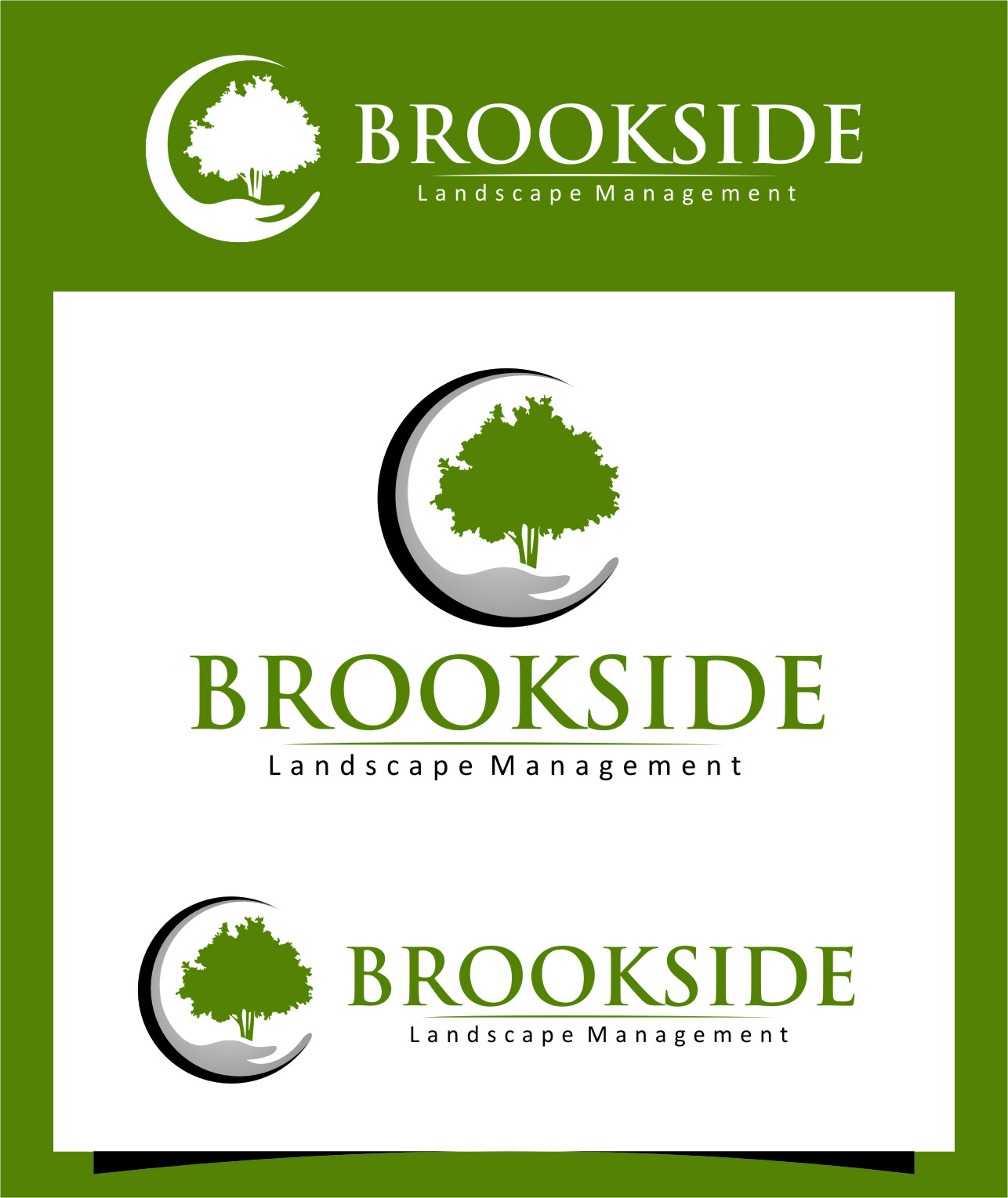 Logo Design by RasYa Muhammad Athaya - Entry No. 194 in the Logo Design Contest New Logo Design for Brookside Landscape Management.