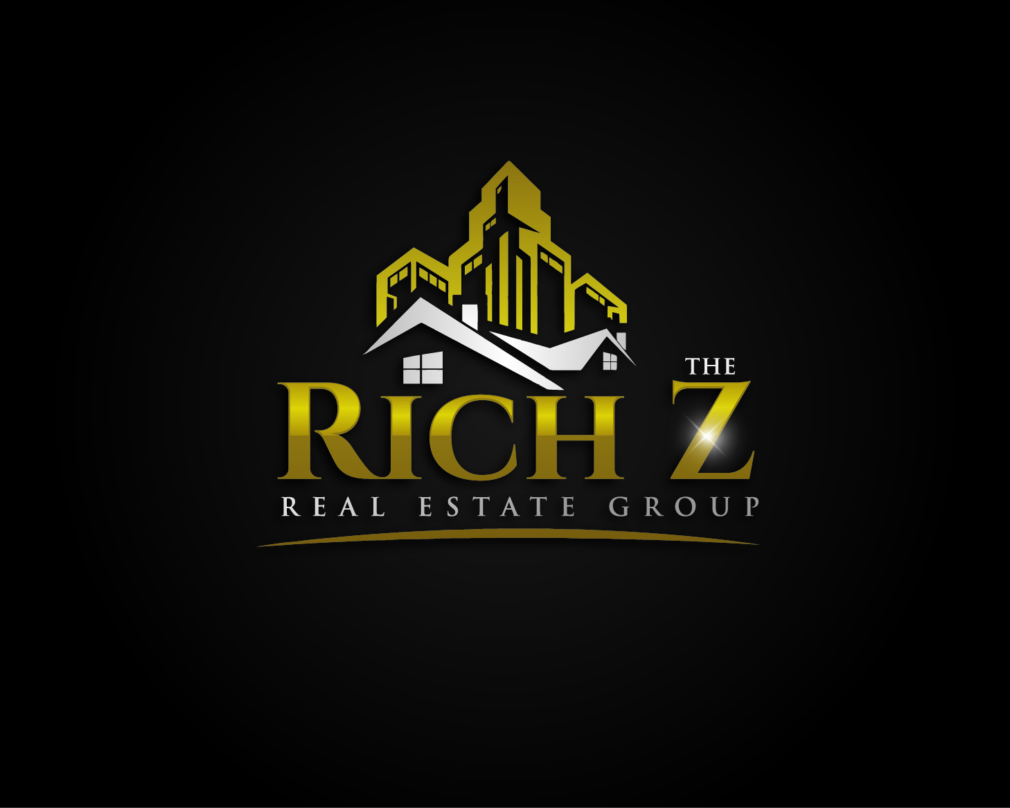 Logo Design by VENTSISLAV KOVACHEV - Entry No. 99 in the Logo Design Contest The Rich Z. Real Estate Group Logo Design.