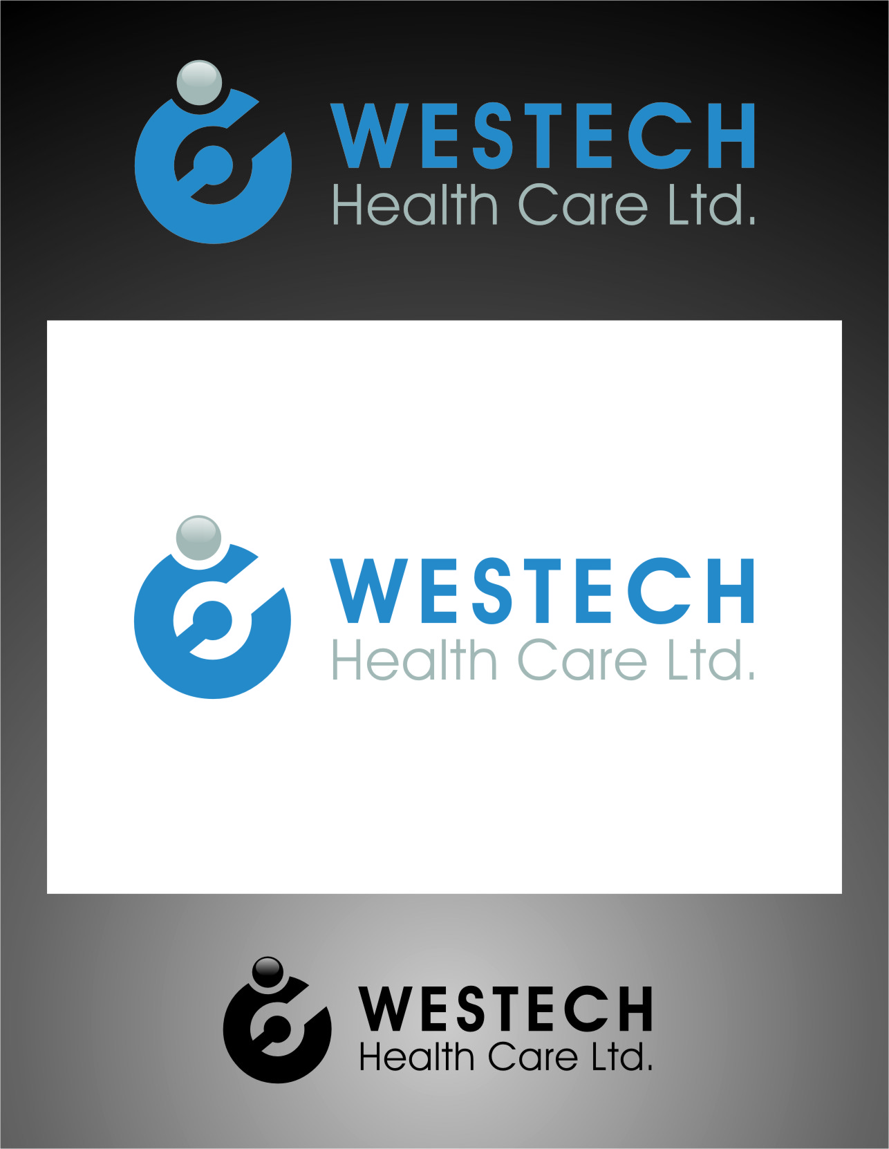 Logo Design by Ngepet_art - Entry No. 42 in the Logo Design Contest Creative Logo Design for Westech Health Care Ltd..
