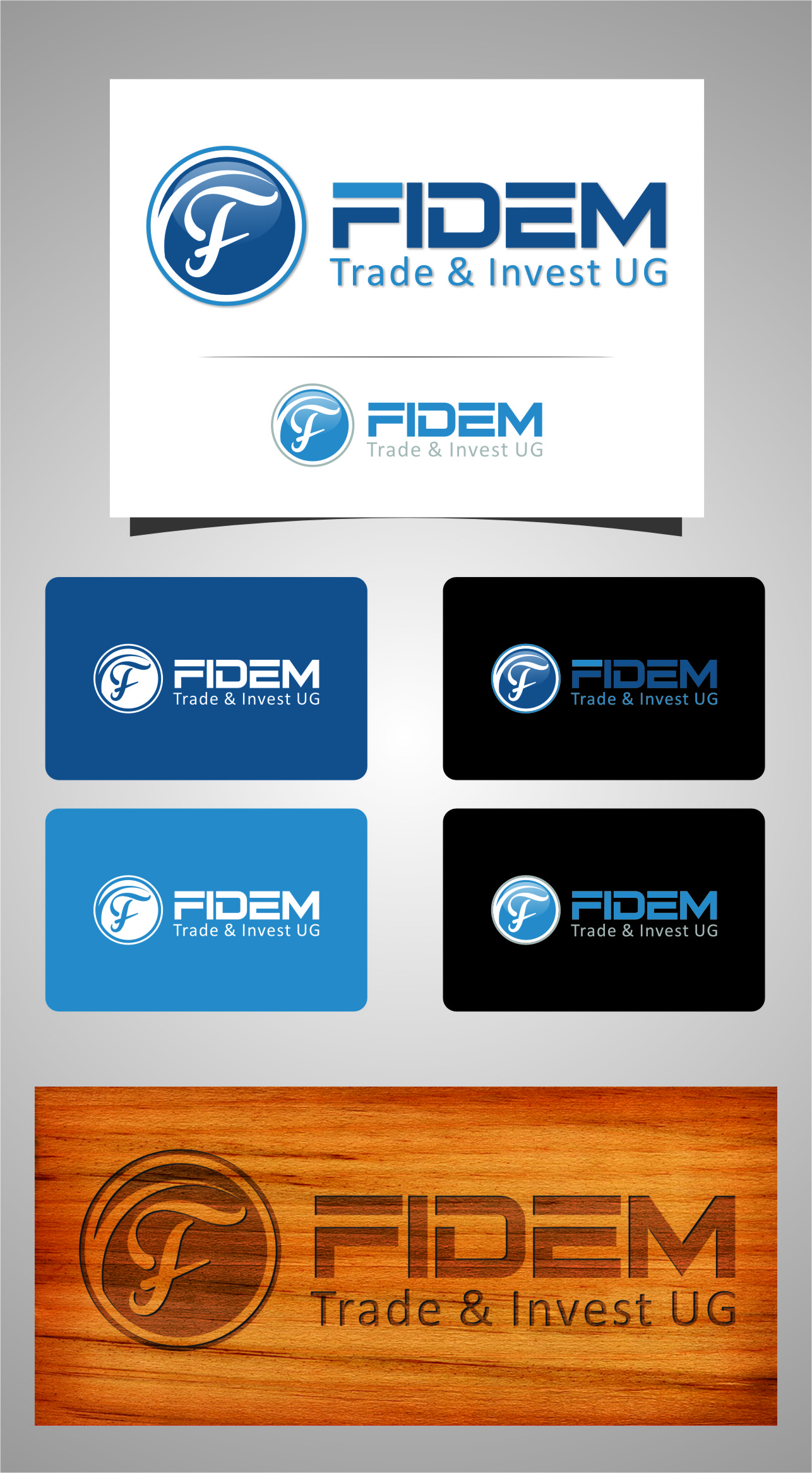 Logo Design by RasYa Muhammad Athaya - Entry No. 811 in the Logo Design Contest Professional Logo Design for FIDEM Trade & Invest UG.