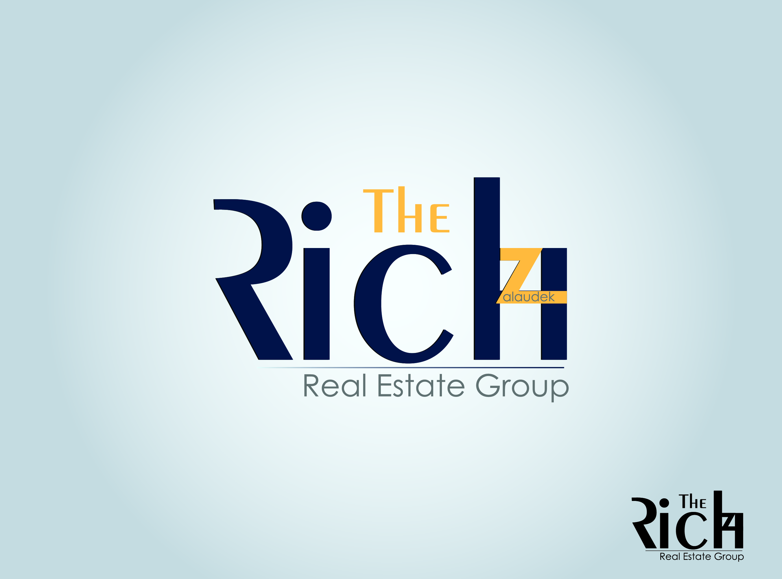 Logo Design by nTia - Entry No. 106 in the Logo Design Contest The Rich Z. Real Estate Group Logo Design.