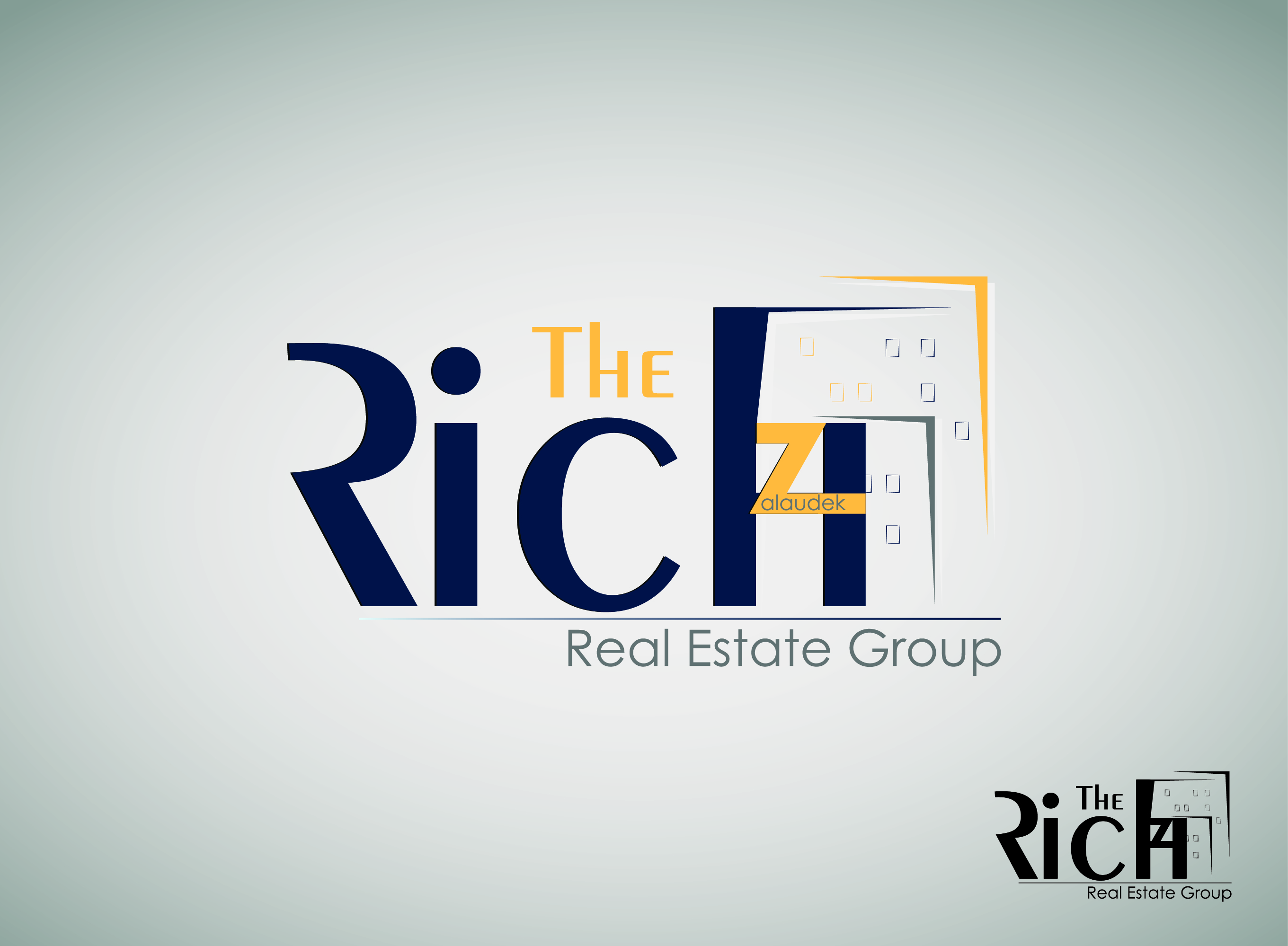 Logo Design by nTia - Entry No. 107 in the Logo Design Contest The Rich Z. Real Estate Group Logo Design.