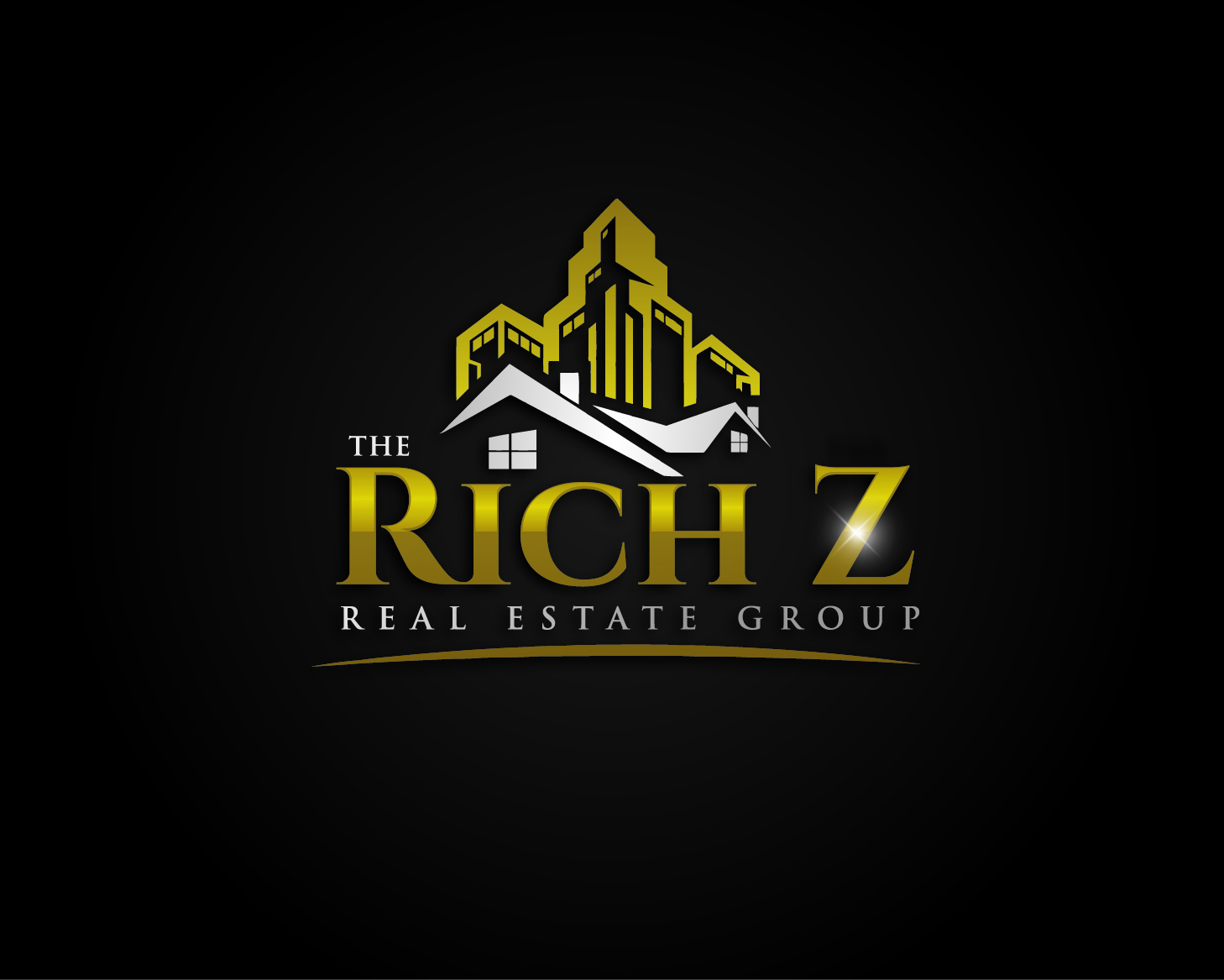 Logo Design by VENTSISLAV KOVACHEV - Entry No. 109 in the Logo Design Contest The Rich Z. Real Estate Group Logo Design.