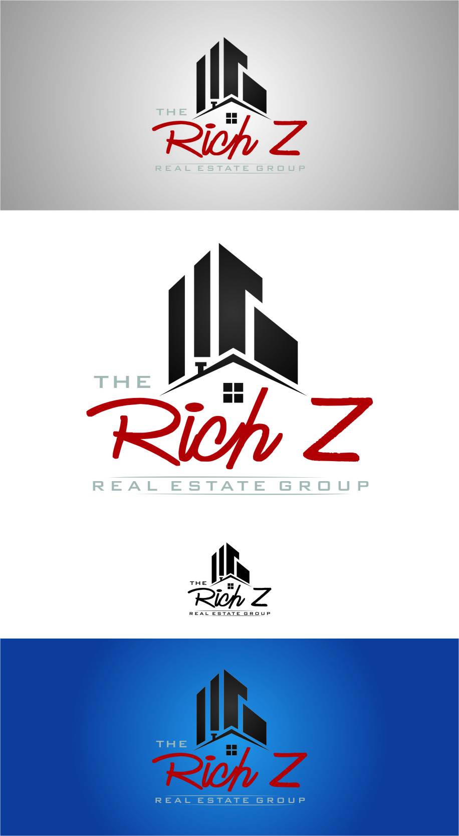 Logo Design by Ngepet_art - Entry No. 118 in the Logo Design Contest The Rich Z. Real Estate Group Logo Design.