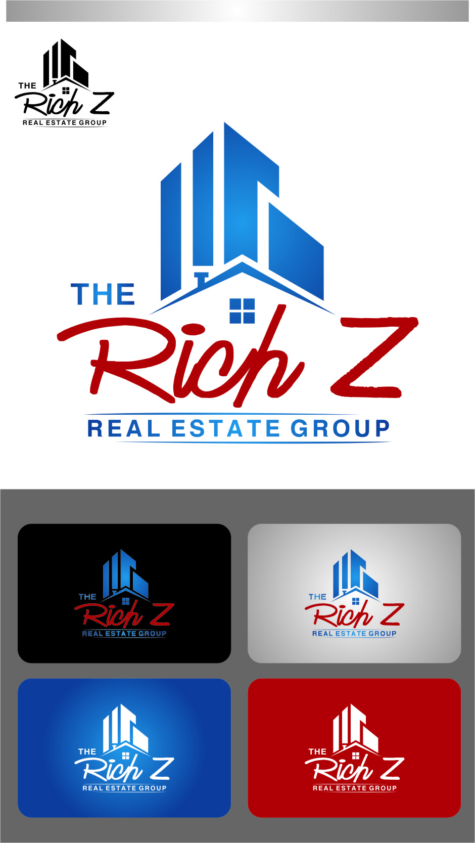Logo Design by RasYa Muhammad Athaya - Entry No. 119 in the Logo Design Contest The Rich Z. Real Estate Group Logo Design.