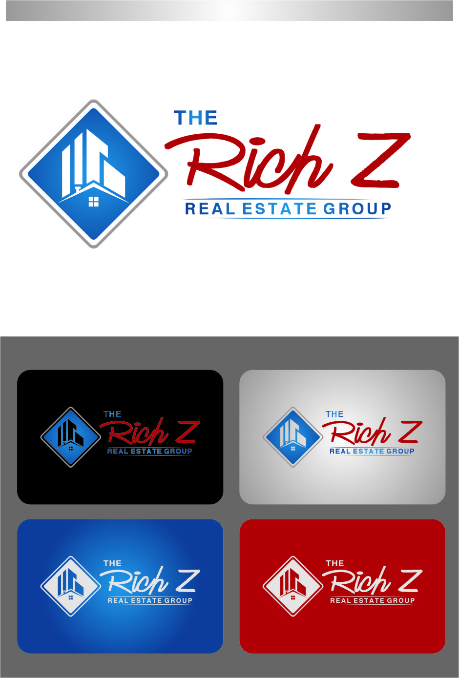 Logo Design by RasYa Muhammad Athaya - Entry No. 120 in the Logo Design Contest The Rich Z. Real Estate Group Logo Design.