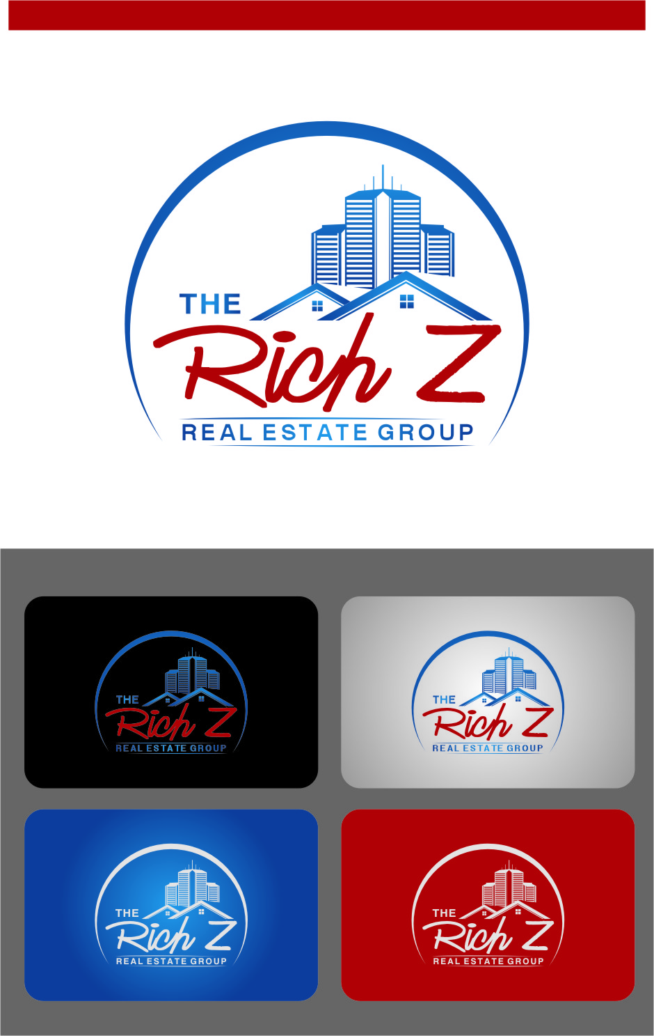 Logo Design by Ngepet_art - Entry No. 121 in the Logo Design Contest The Rich Z. Real Estate Group Logo Design.