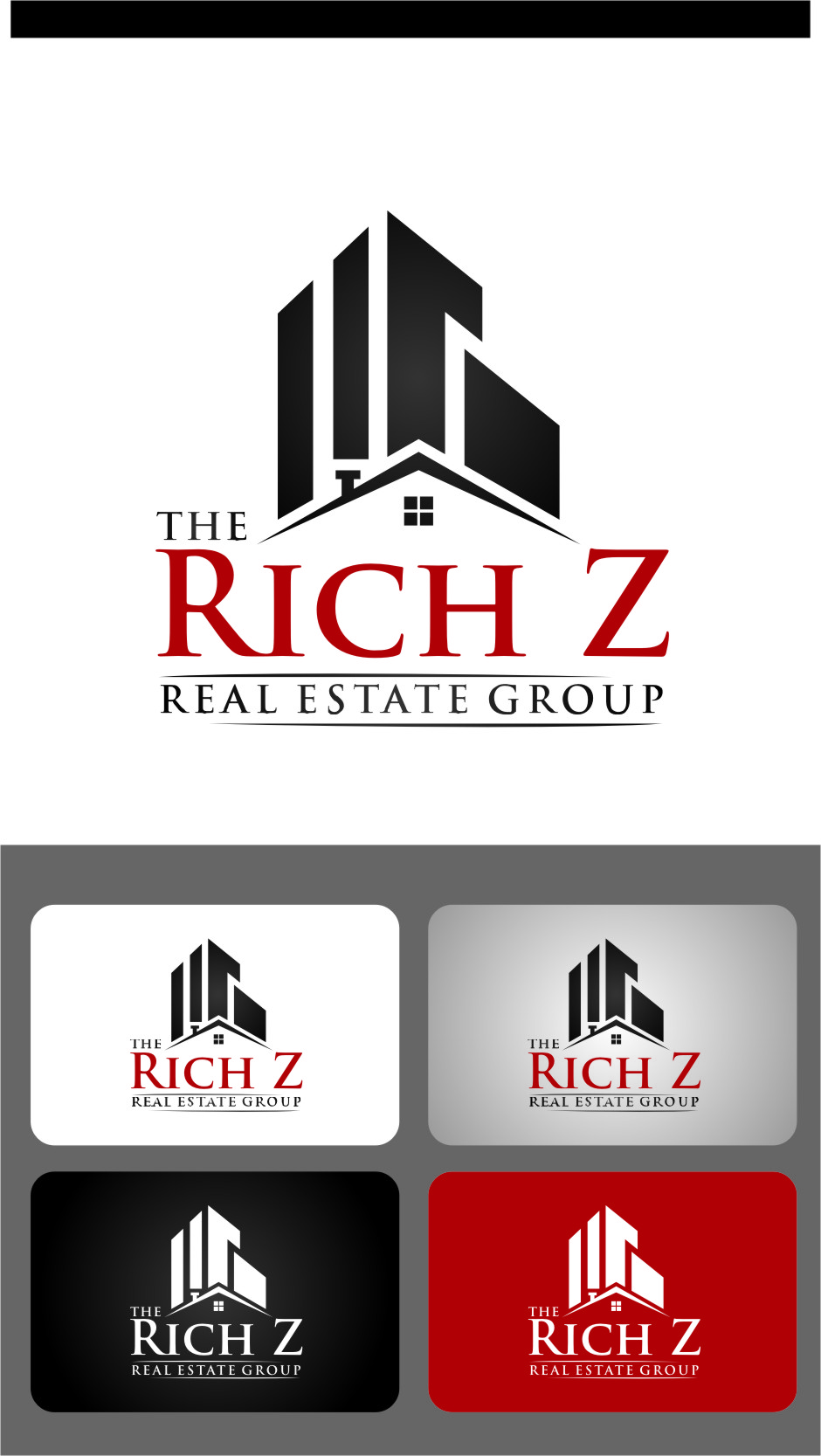 Logo Design by RasYa Muhammad Athaya - Entry No. 126 in the Logo Design Contest The Rich Z. Real Estate Group Logo Design.