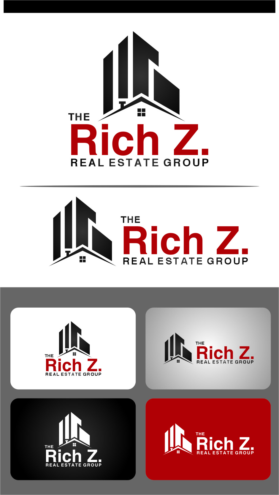 Logo Design by Ngepet_art - Entry No. 127 in the Logo Design Contest The Rich Z. Real Estate Group Logo Design.