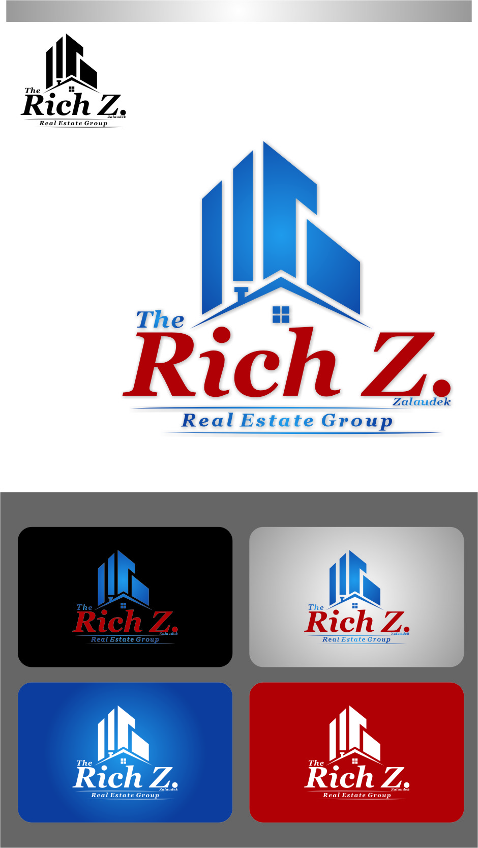 Logo Design by Ngepet_art - Entry No. 136 in the Logo Design Contest The Rich Z. Real Estate Group Logo Design.