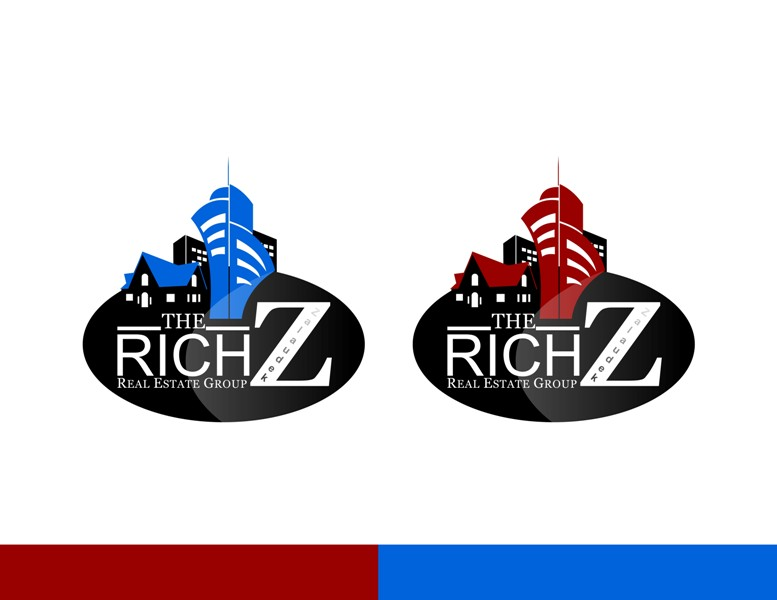 Logo Design by Crispin Jr Vasquez - Entry No. 139 in the Logo Design Contest The Rich Z. Real Estate Group Logo Design.