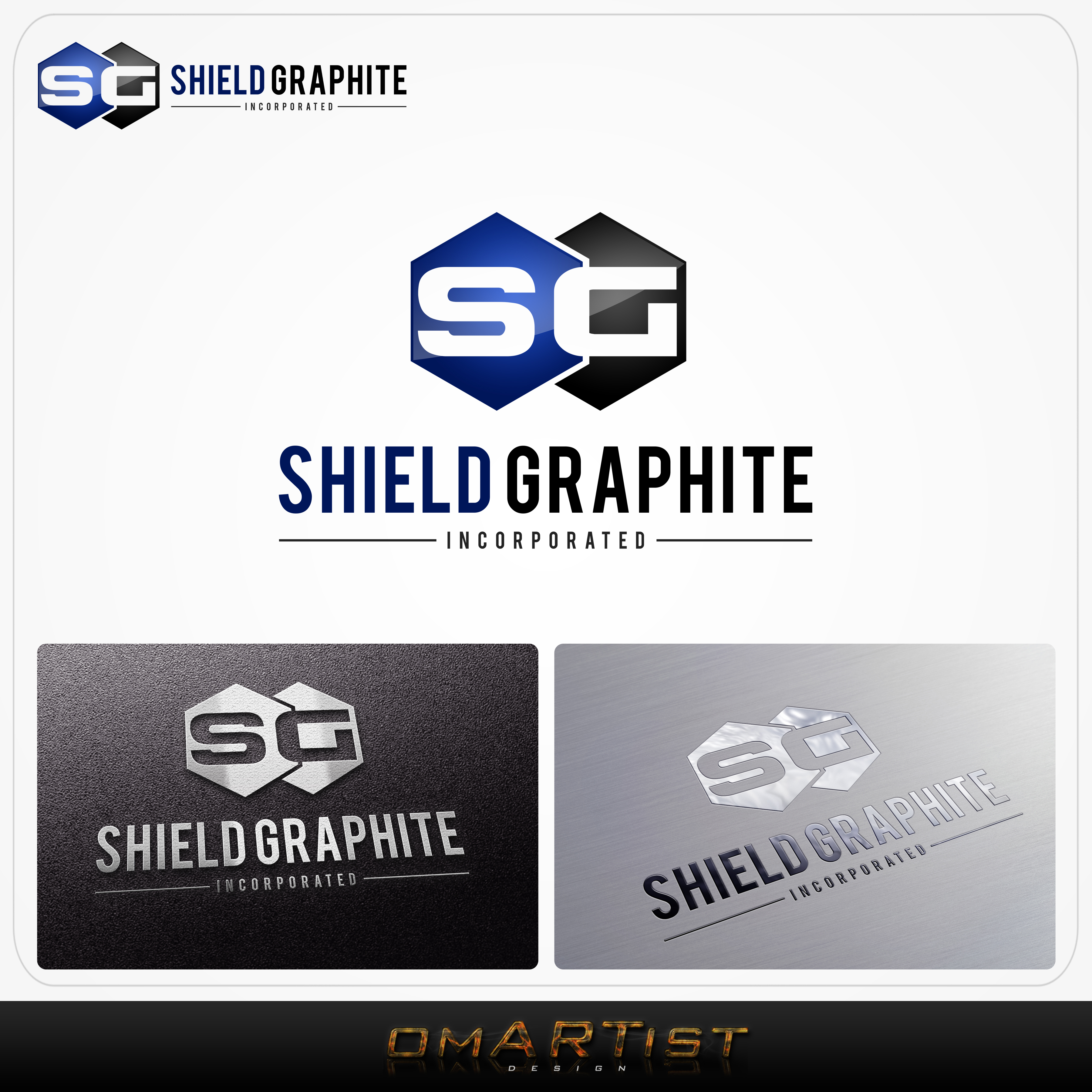 Logo Design by omARTist - Entry No. 140 in the Logo Design Contest Imaginative Logo Design for Shield Graphite Inc..