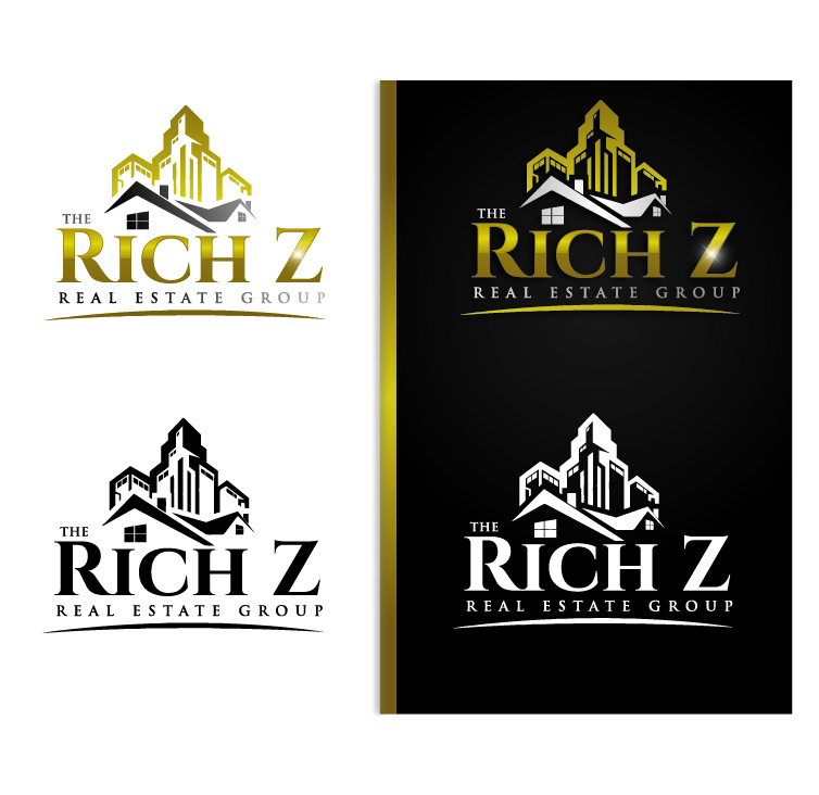 Logo Design by VENTSISLAV KOVACHEV - Entry No. 143 in the Logo Design Contest The Rich Z. Real Estate Group Logo Design.