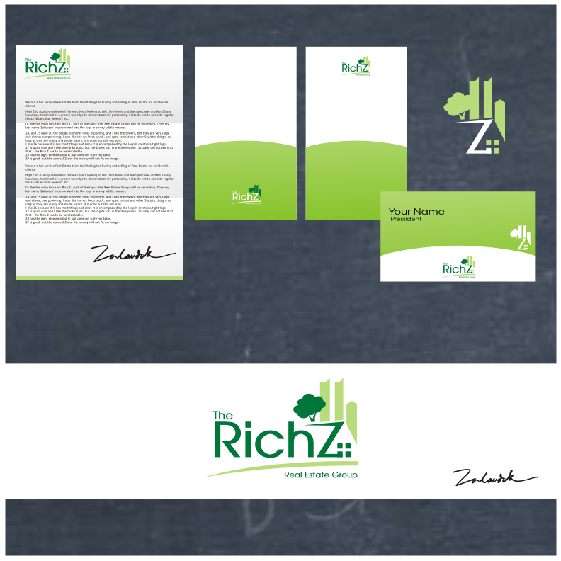 Logo Design by graphicleaf - Entry No. 146 in the Logo Design Contest The Rich Z. Real Estate Group Logo Design.