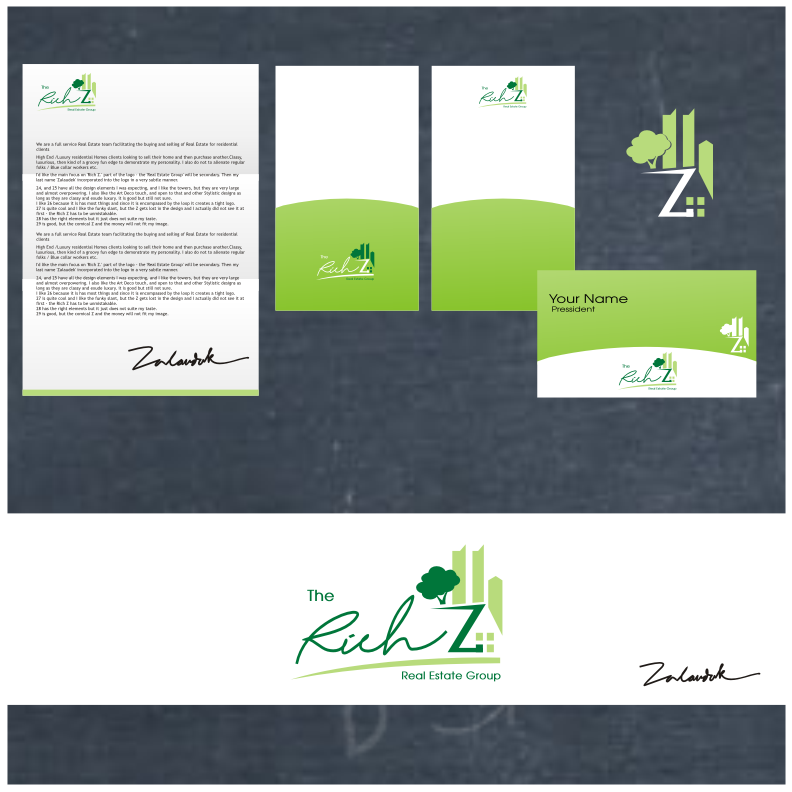 Logo Design by graphicleaf - Entry No. 149 in the Logo Design Contest The Rich Z. Real Estate Group Logo Design.