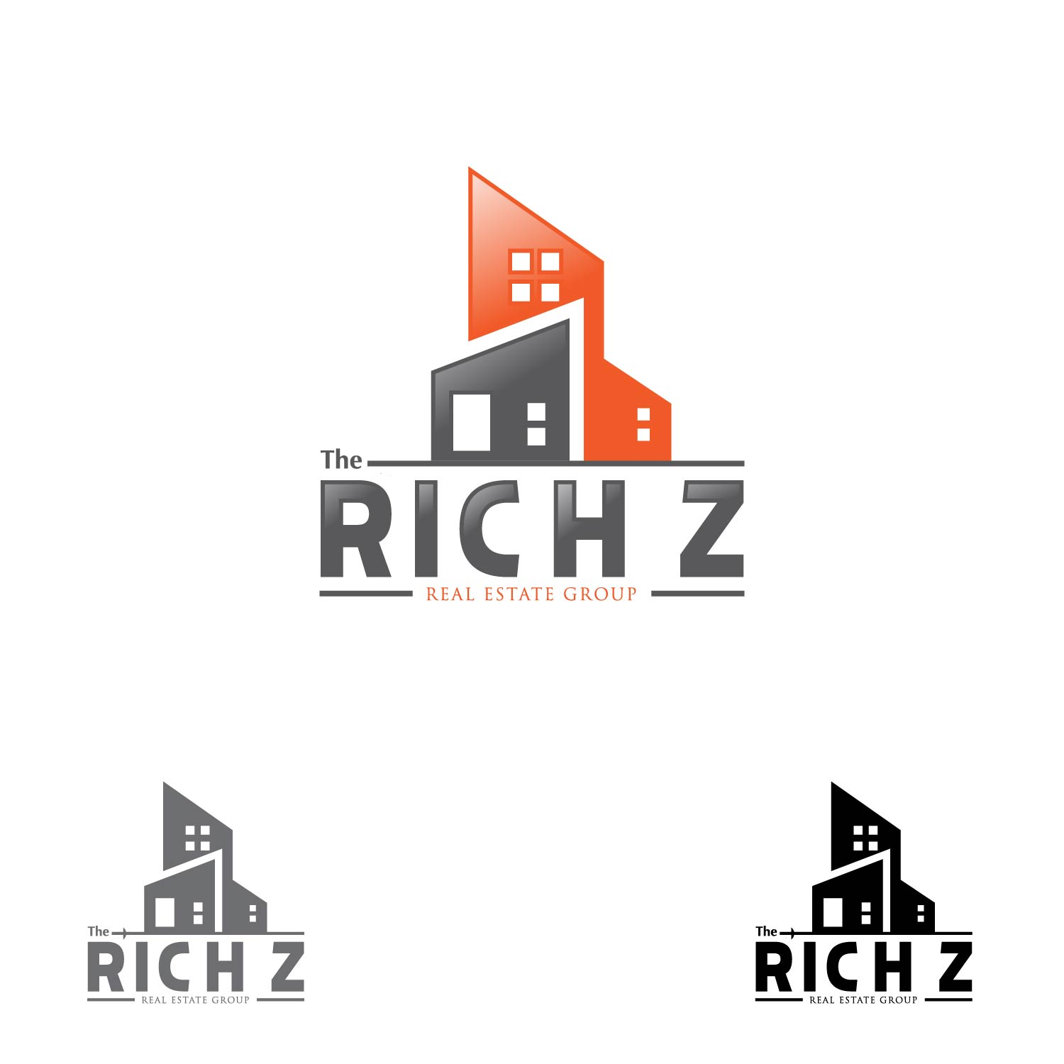 Logo Design by lagalag - Entry No. 152 in the Logo Design Contest The Rich Z. Real Estate Group Logo Design.