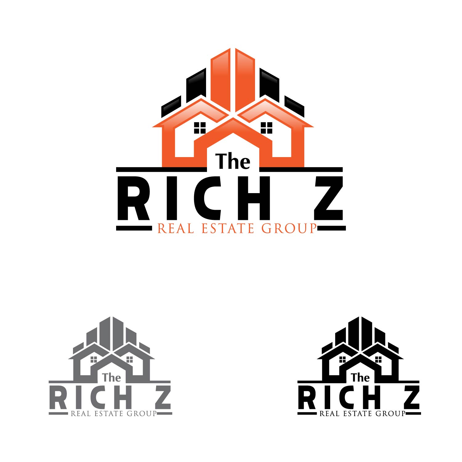 Logo Design by lagalag - Entry No. 153 in the Logo Design Contest The Rich Z. Real Estate Group Logo Design.