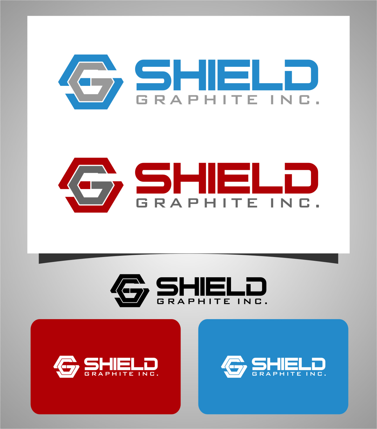 Logo Design by Ngepet_art - Entry No. 149 in the Logo Design Contest Imaginative Logo Design for Shield Graphite Inc..