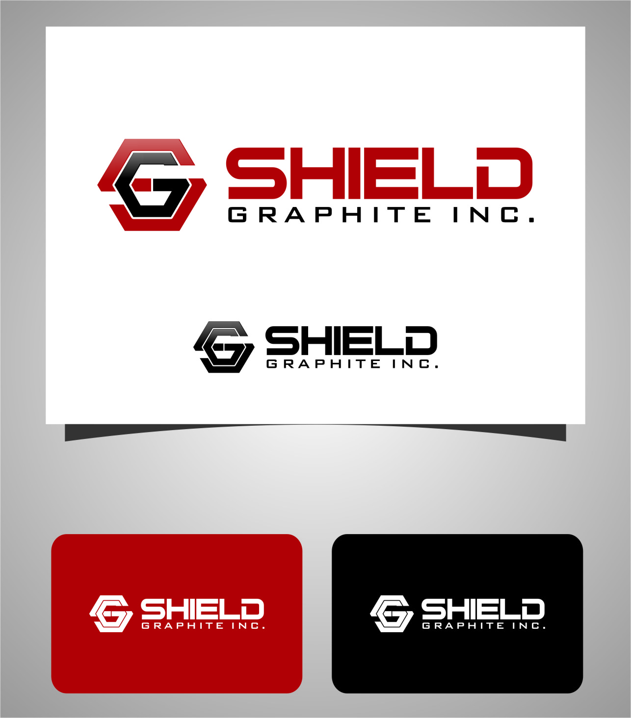Logo Design by Ngepet_art - Entry No. 150 in the Logo Design Contest Imaginative Logo Design for Shield Graphite Inc..