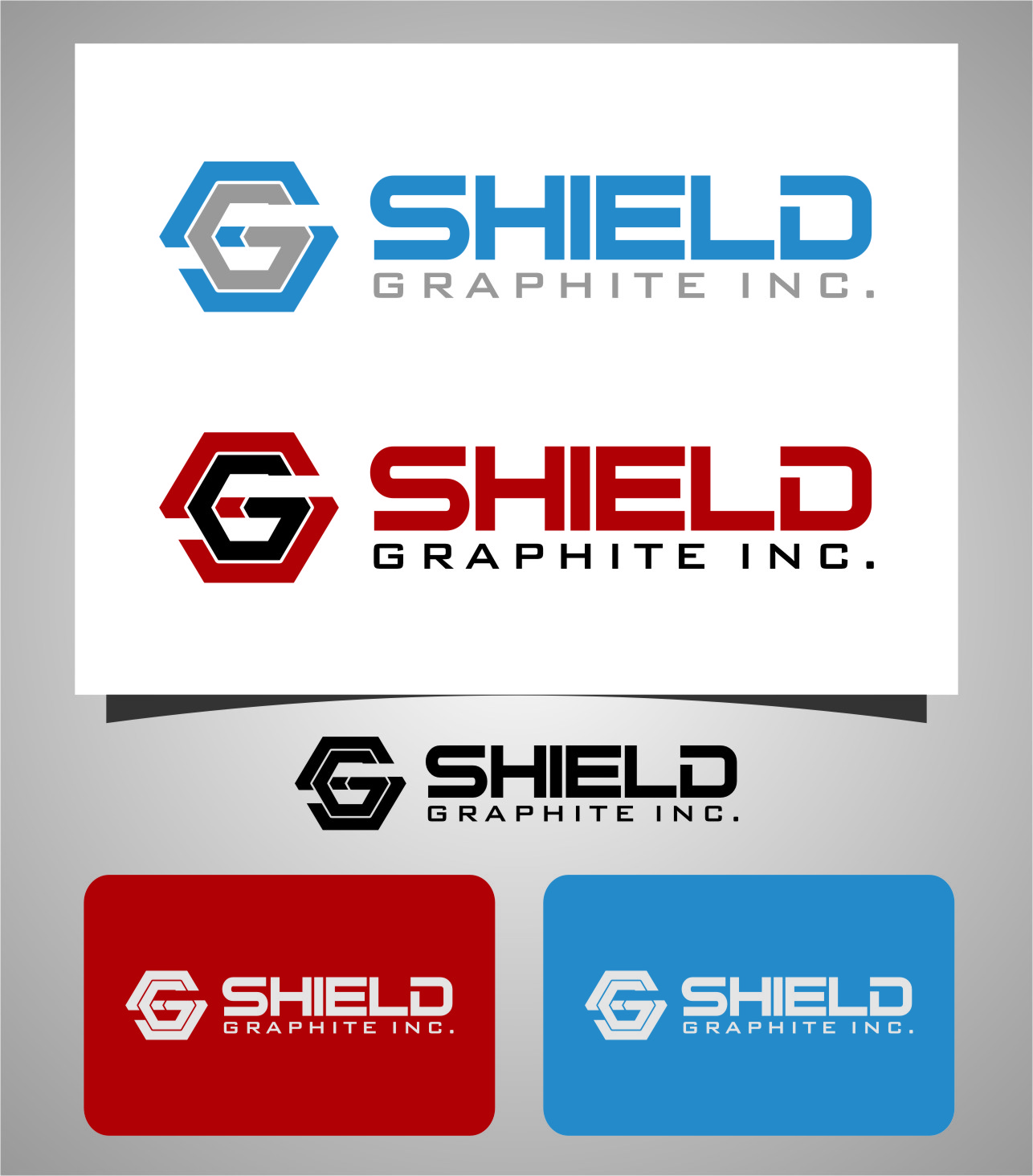 Logo Design by RasYa Muhammad Athaya - Entry No. 152 in the Logo Design Contest Imaginative Logo Design for Shield Graphite Inc..