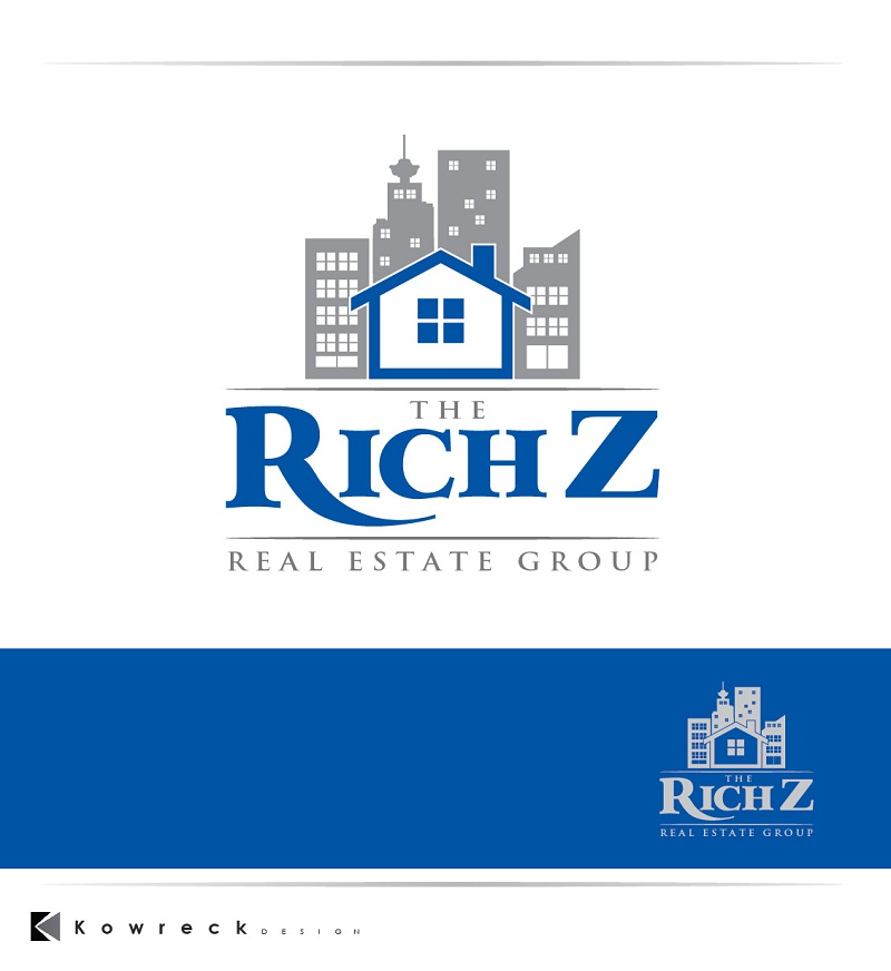 Logo Design by kowreck - Entry No. 154 in the Logo Design Contest The Rich Z. Real Estate Group Logo Design.