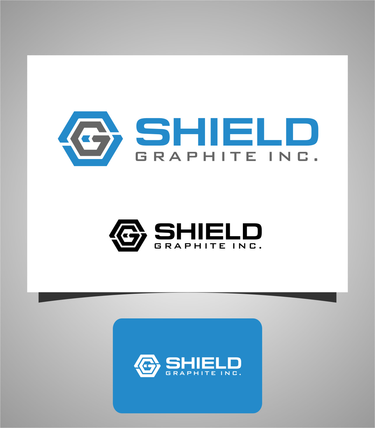 Logo Design by RasYa Muhammad Athaya - Entry No. 155 in the Logo Design Contest Imaginative Logo Design for Shield Graphite Inc..