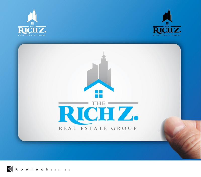 Logo Design by kowreck - Entry No. 155 in the Logo Design Contest The Rich Z. Real Estate Group Logo Design.