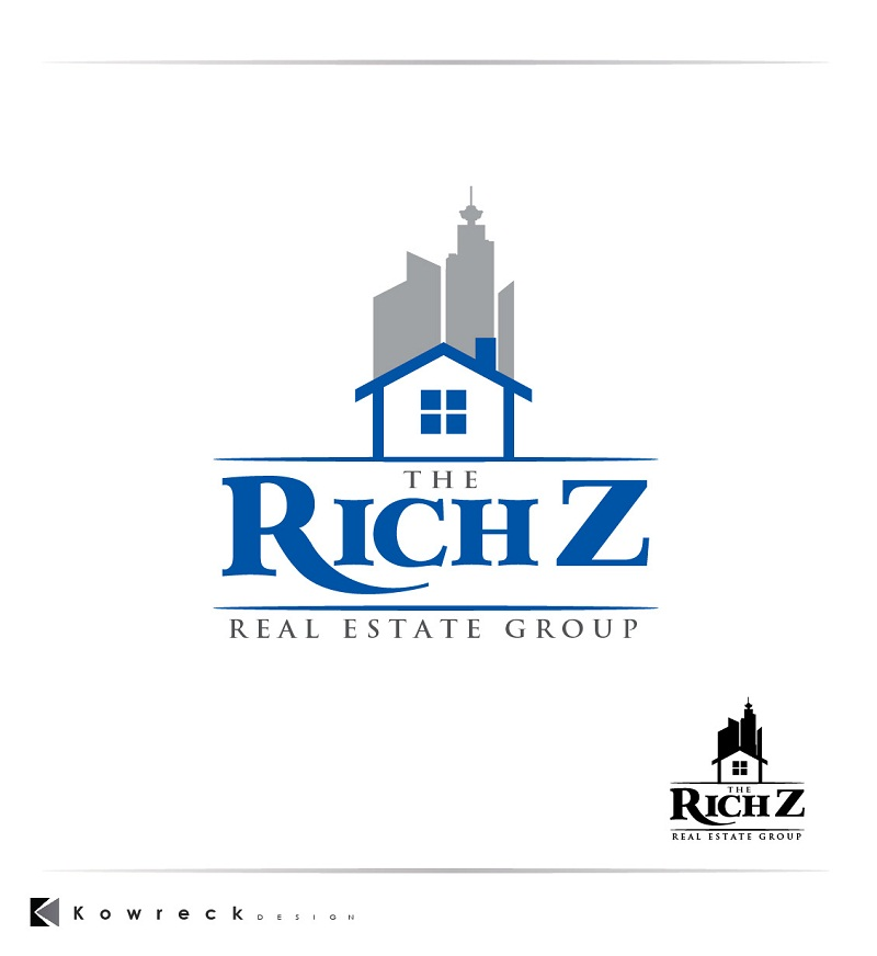Logo Design by kowreck - Entry No. 156 in the Logo Design Contest The Rich Z. Real Estate Group Logo Design.