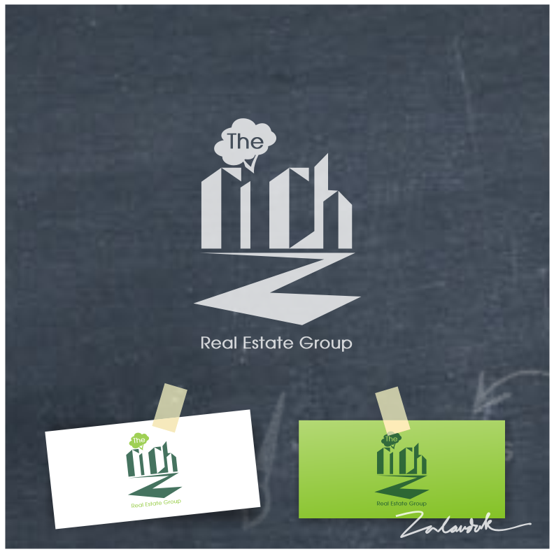 Logo Design by graphicleaf - Entry No. 158 in the Logo Design Contest The Rich Z. Real Estate Group Logo Design.