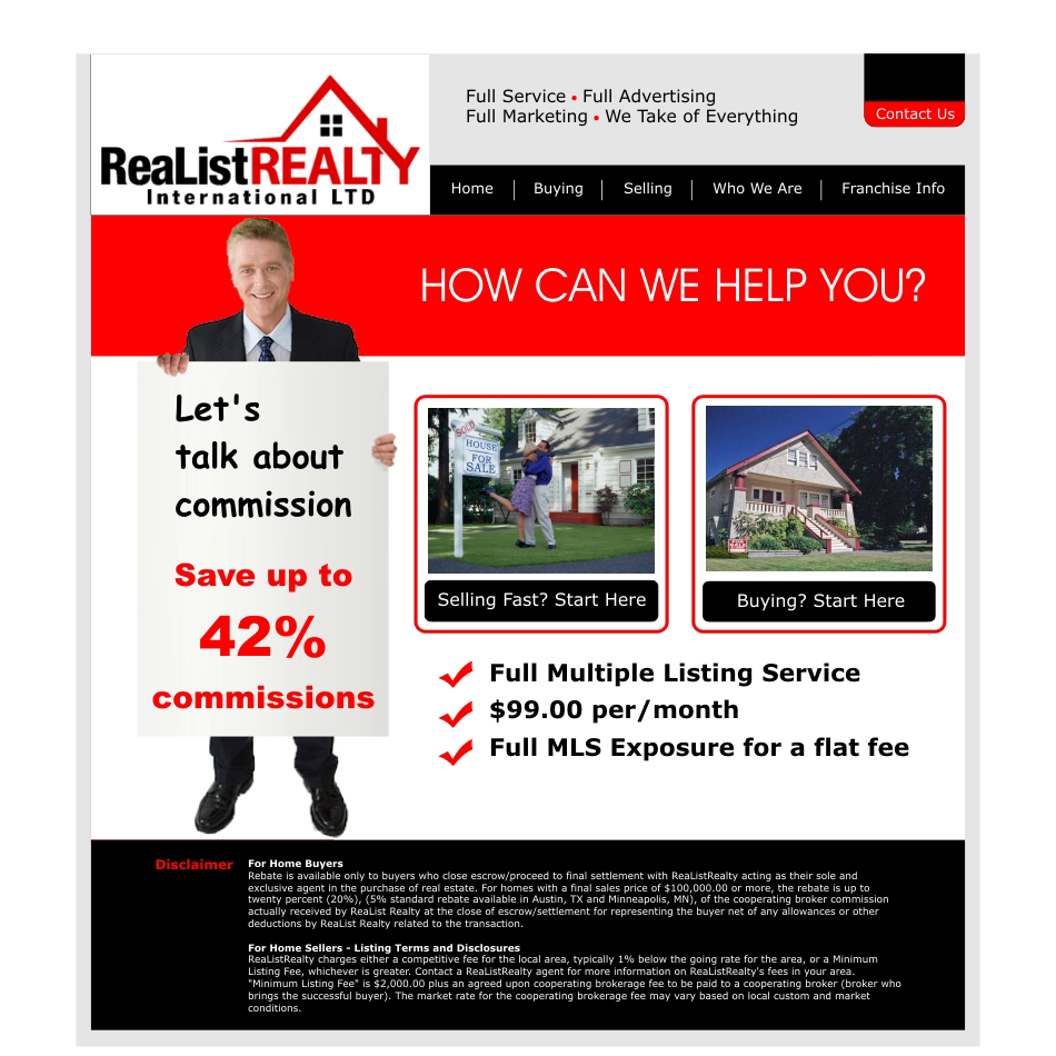 Web Page Design by aspstudio - Entry No. 104 in the Web Page Design Contest Realist Realty International Ltd..