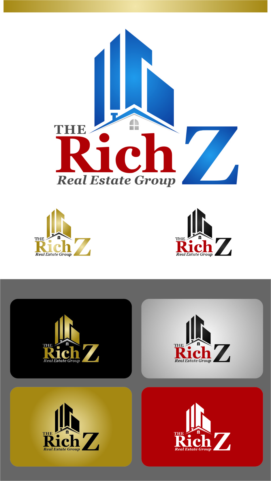Logo Design by RasYa Muhammad Athaya - Entry No. 161 in the Logo Design Contest The Rich Z. Real Estate Group Logo Design.