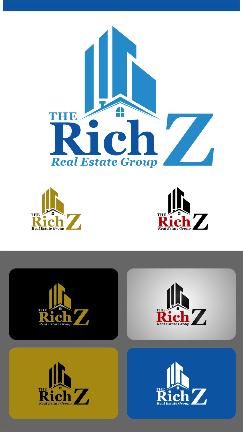 Logo Design by RasYa Muhammad Athaya - Entry No. 162 in the Logo Design Contest The Rich Z. Real Estate Group Logo Design.