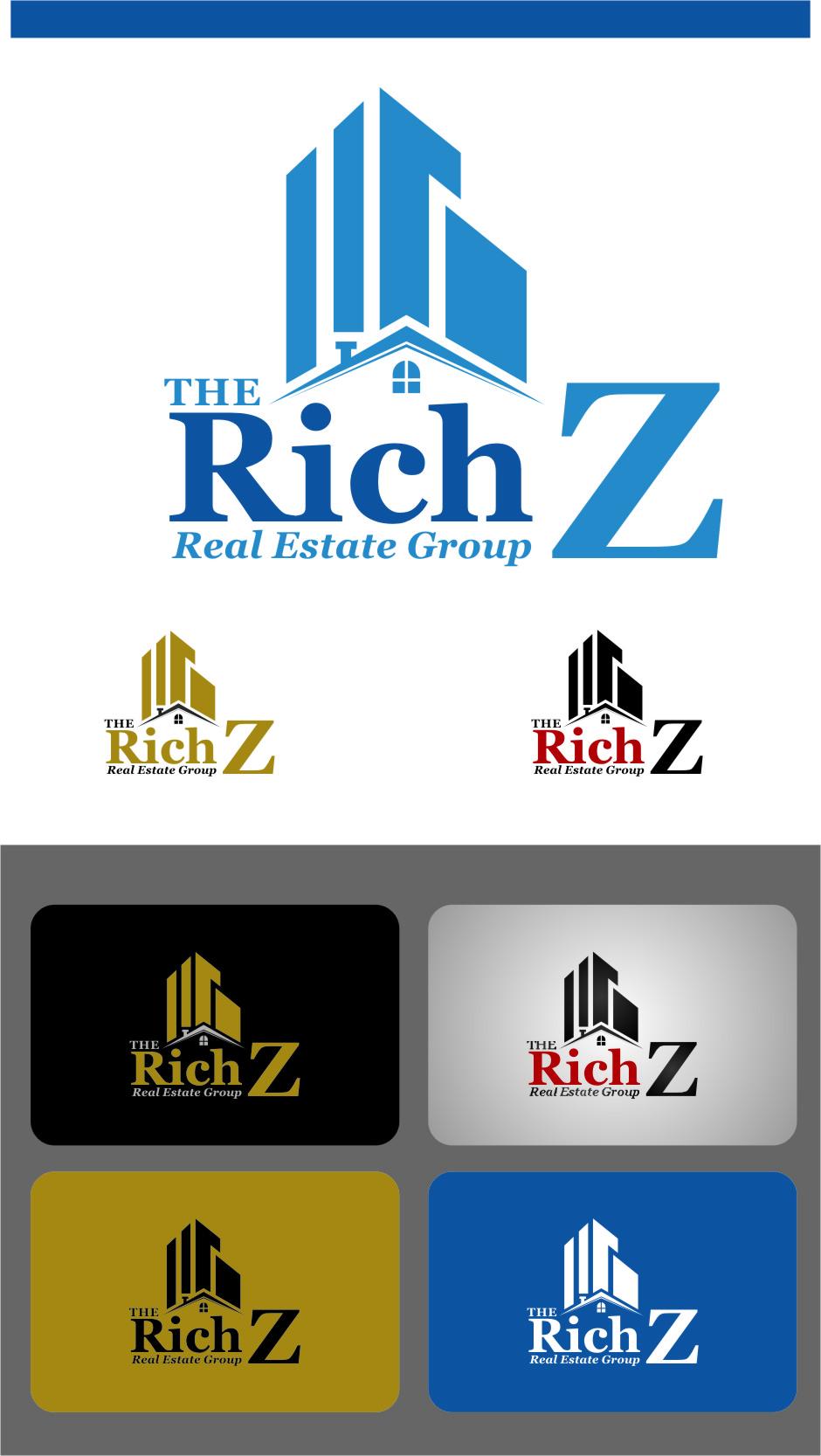 Logo Design by Ngepet_art - Entry No. 162 in the Logo Design Contest The Rich Z. Real Estate Group Logo Design.